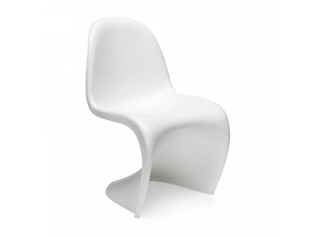Židle HOVER bílá polypropylen