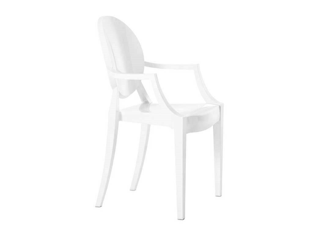 Židle LOUIS bílá polykarbonát