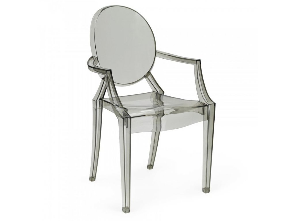 Židle LOUIS kouřová polykarbonát