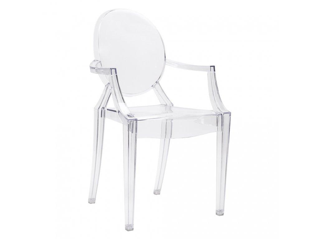 Židle LOUIS transparentní polykarbonát