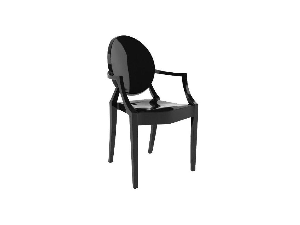 Židle LOUIS černá polykarbonát