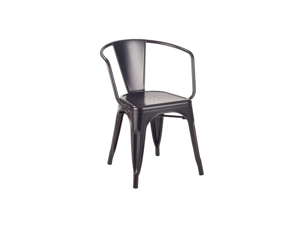 Židle TOWER ARM černá kov