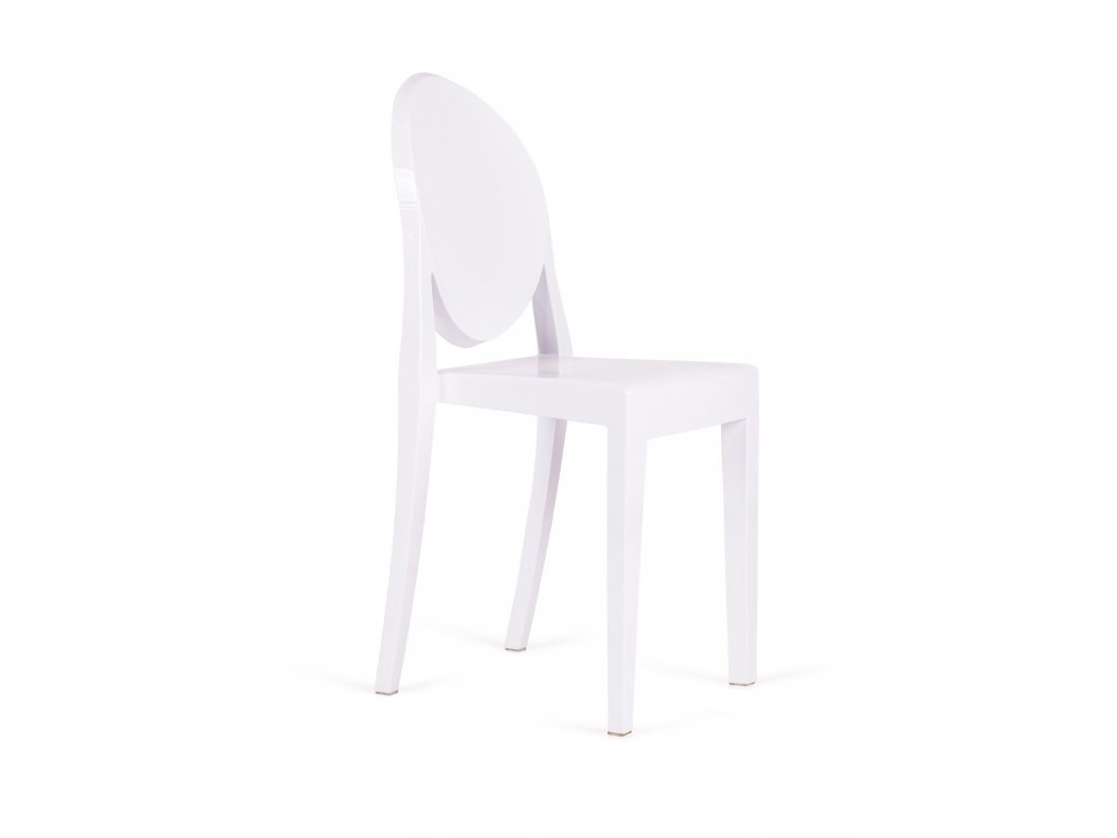 Židle VICTORIA bílá polykarbonát