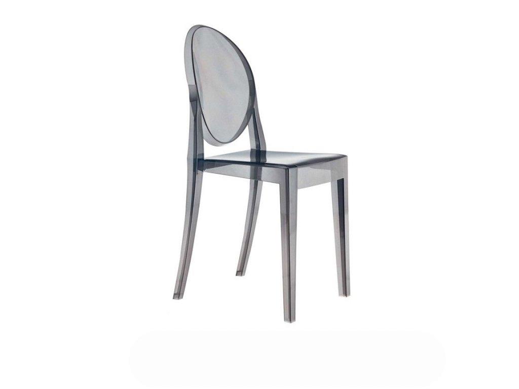 Židle VICTORIA zakouřená polykarbonát