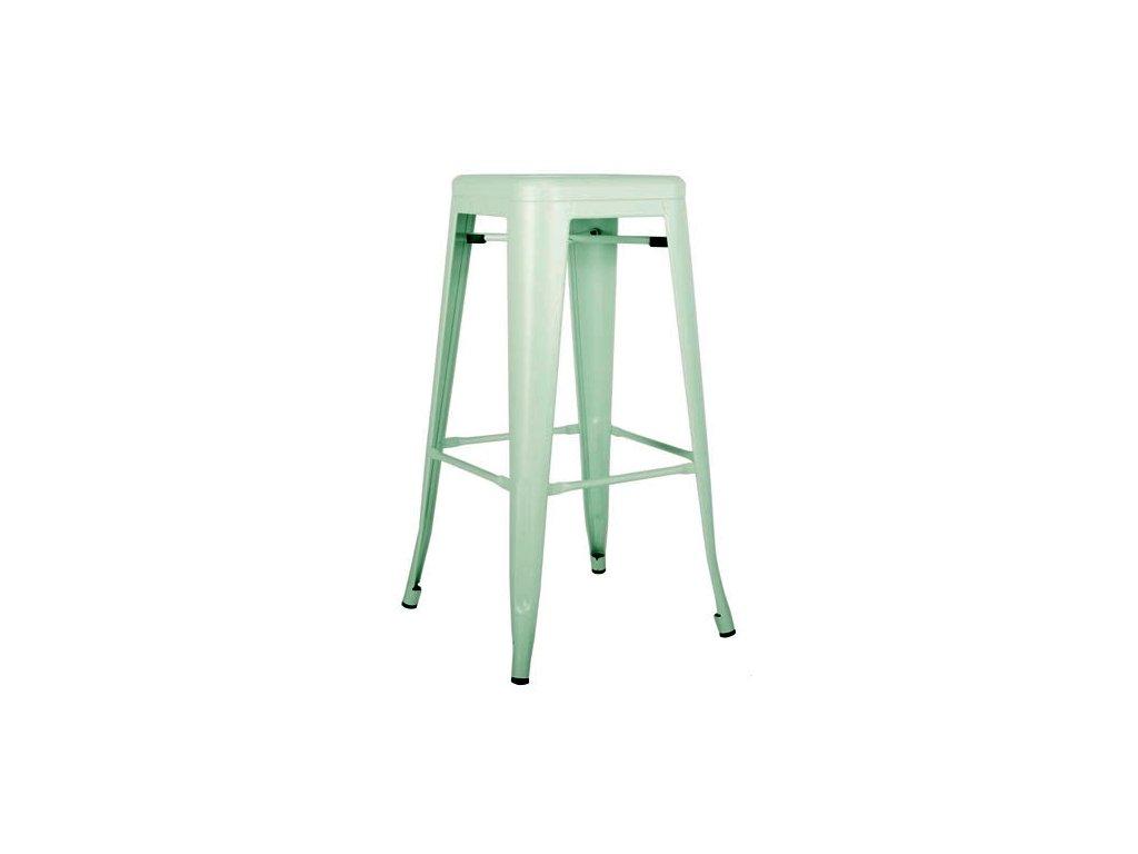 Barová židle TOWER 76cm mátový kov