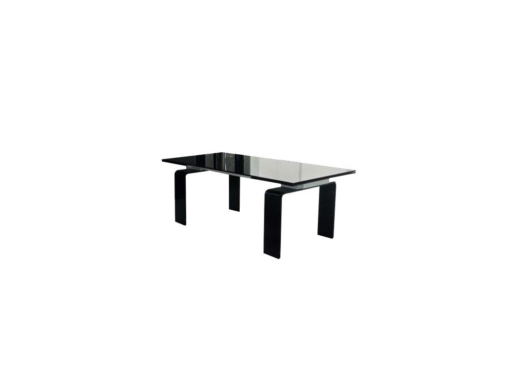 Stůl skleněný ATLANTIS black 160/240 - sklo kalené