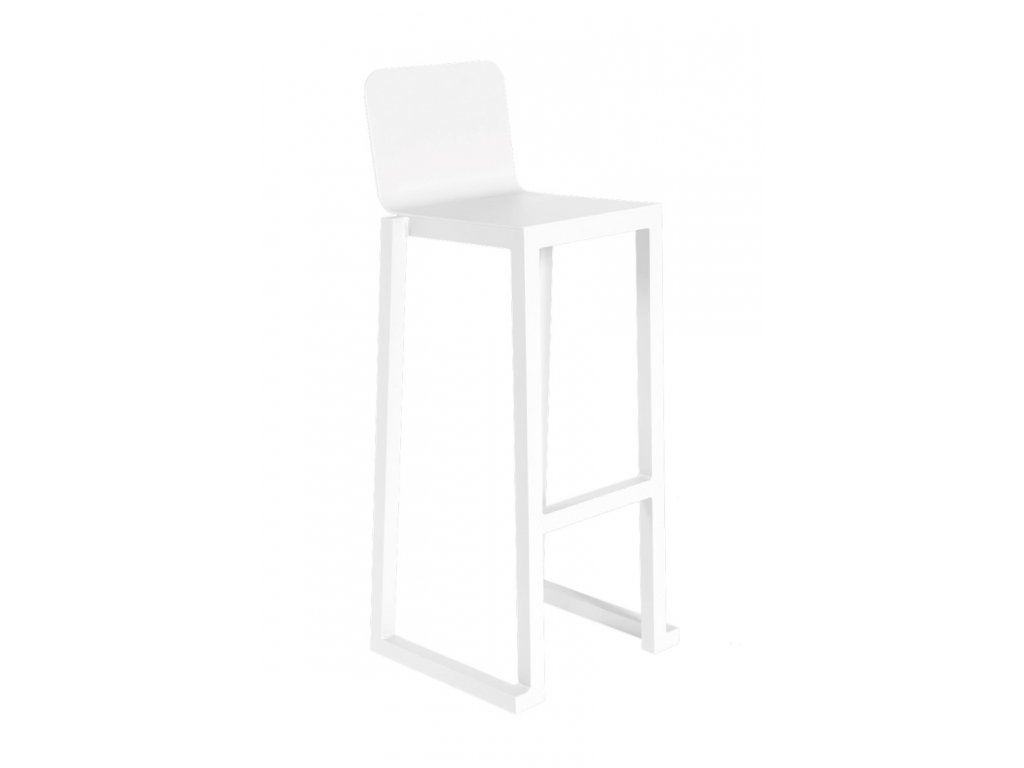 Barová židle BARCINO bílá