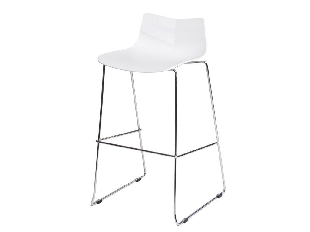 Barová židle LEAF bílá