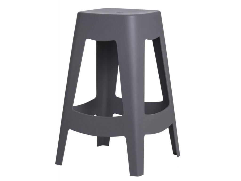 Barová židle TOWER šedá