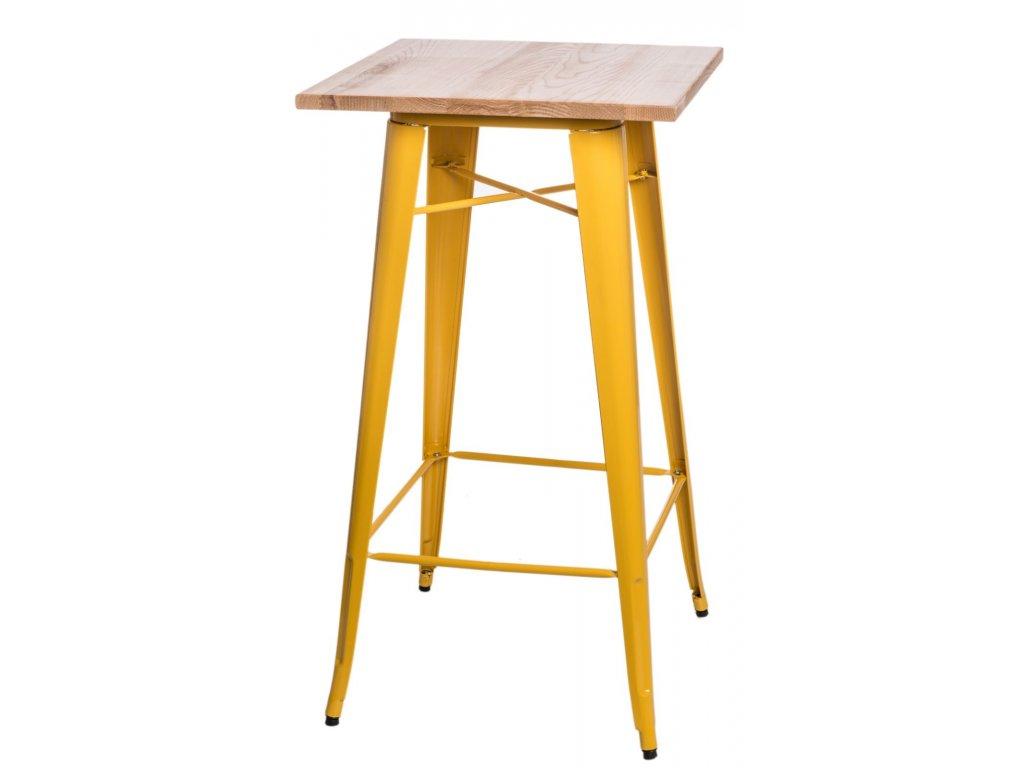 Stůl barový PARIS WOOD žlutý jasan