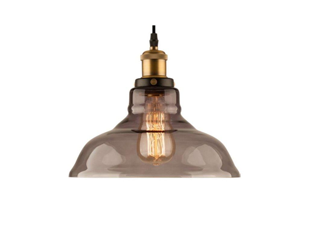 Lustr - Závěsná lampa New York Loft 3 kouřová