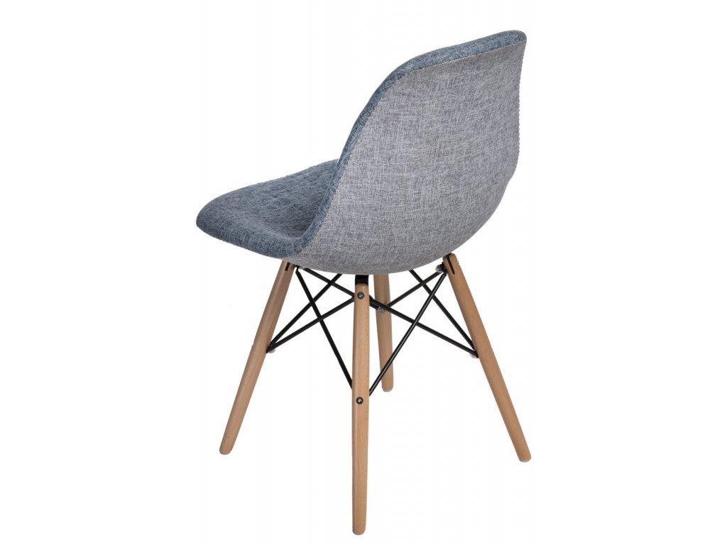 Židle P016V DUO modrá šedá