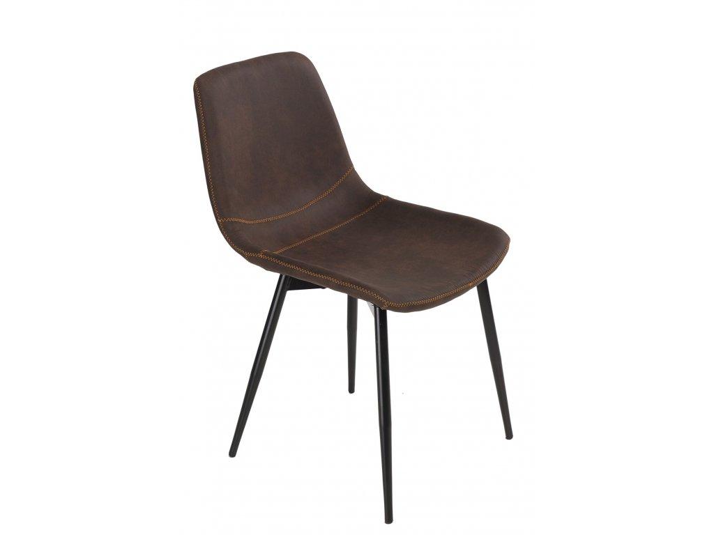 Židle VIGO hnědá tmavá