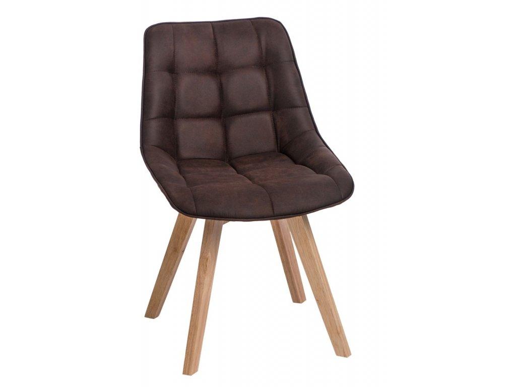 Židle WOODY hnědá tmavá