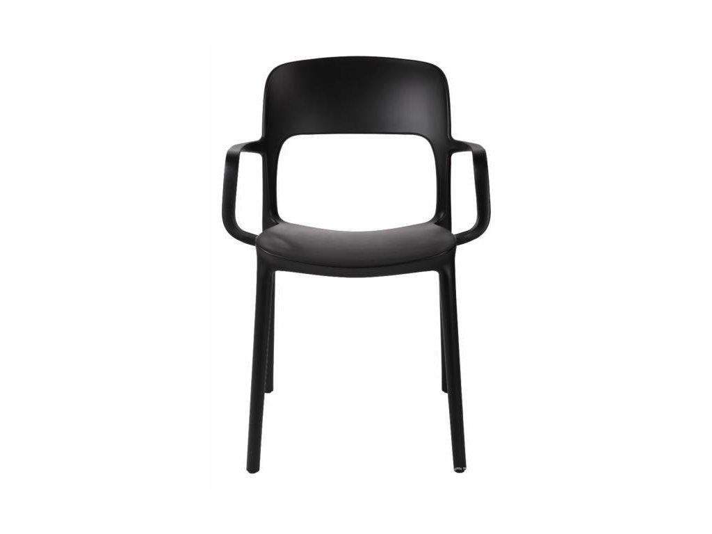 Židle s područkami FLEXI černá