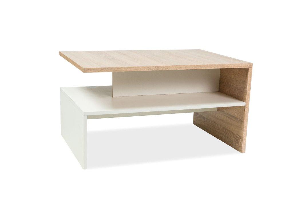 Konferenční stolek FRIDA BARVA DUB SONOMA/BÍLÁ 90x60x50