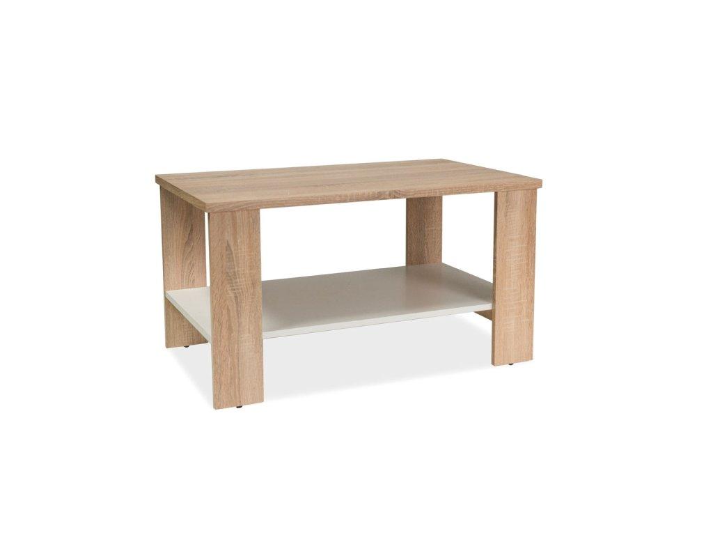 Konferenční stolek LARA BARVA DUB SONOMA/BÍLÁ 90x55x50