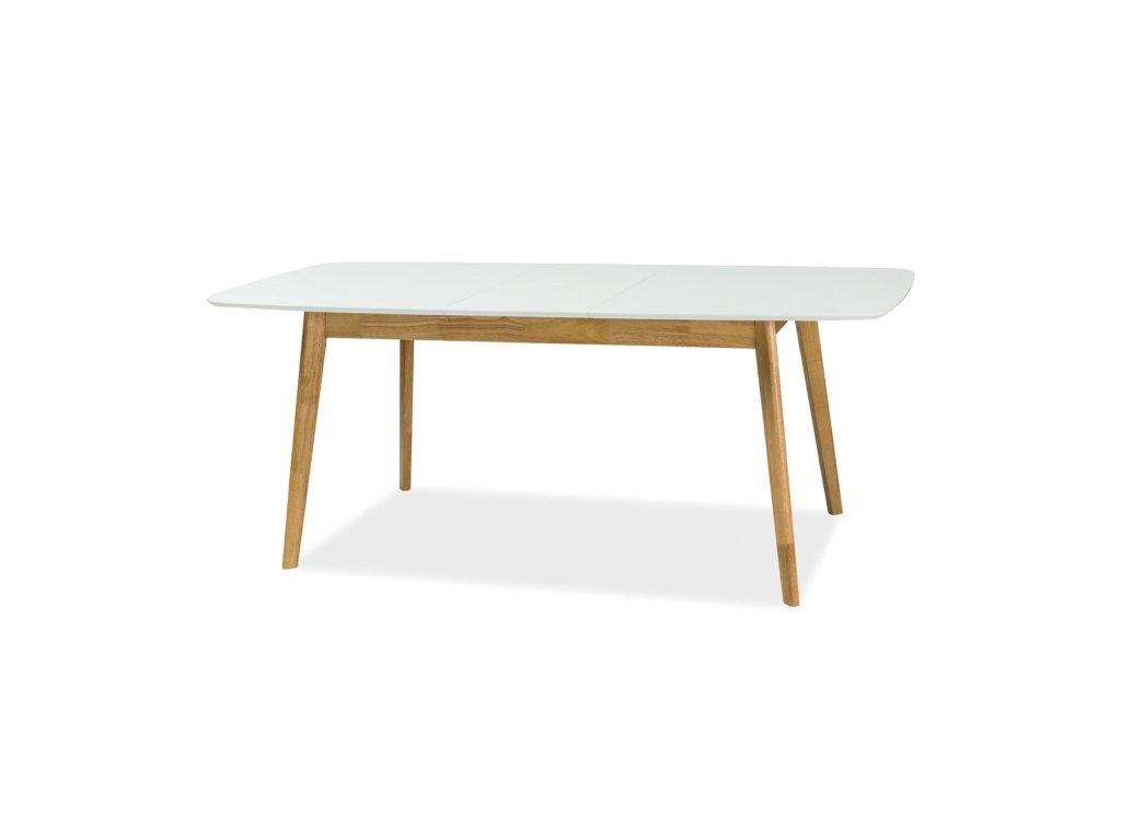 Stůl FELICIO II bílý/dub 150x90