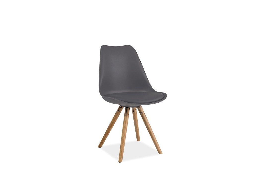 Židle ERIC buk/šedá
