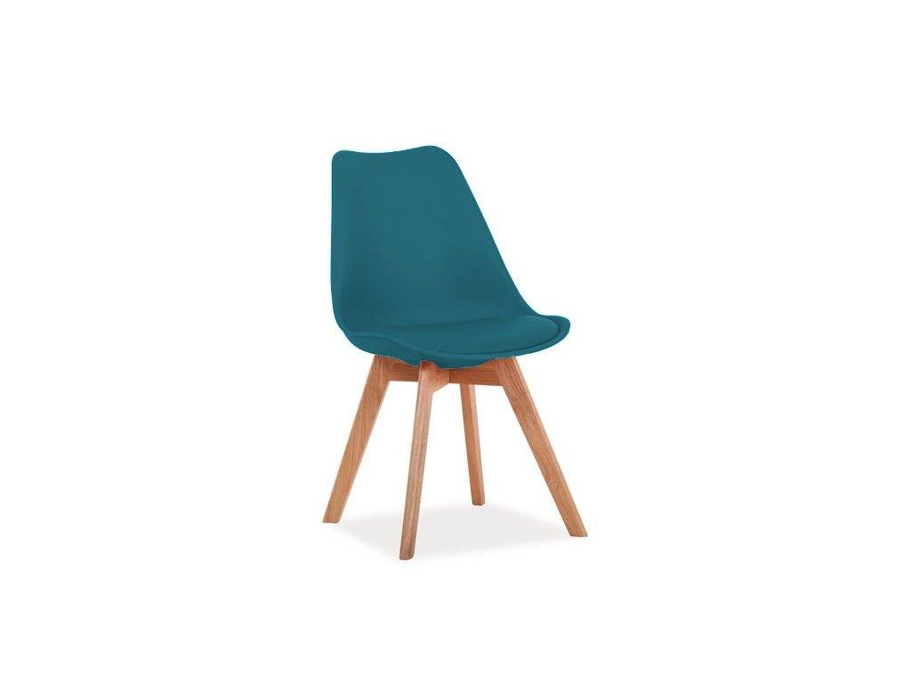 Židle KRIS dub/mořská modř