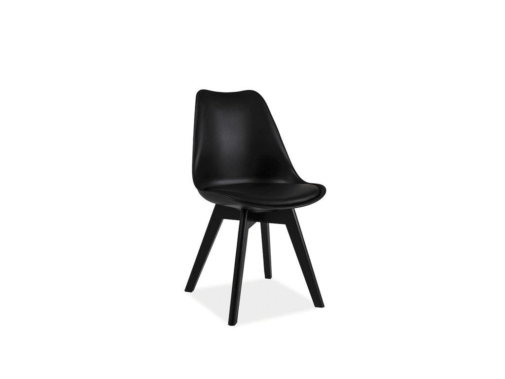 Židle KRIS II černá/černá