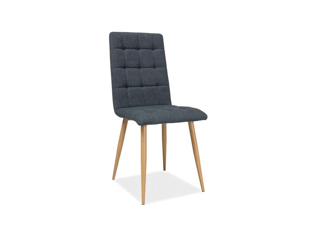 Židle OTTO antracitová/kostra dub