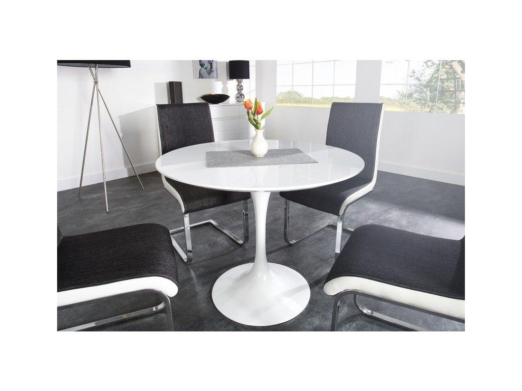 Stůl TULIP * 100 - deska skleněné vlákno bílá