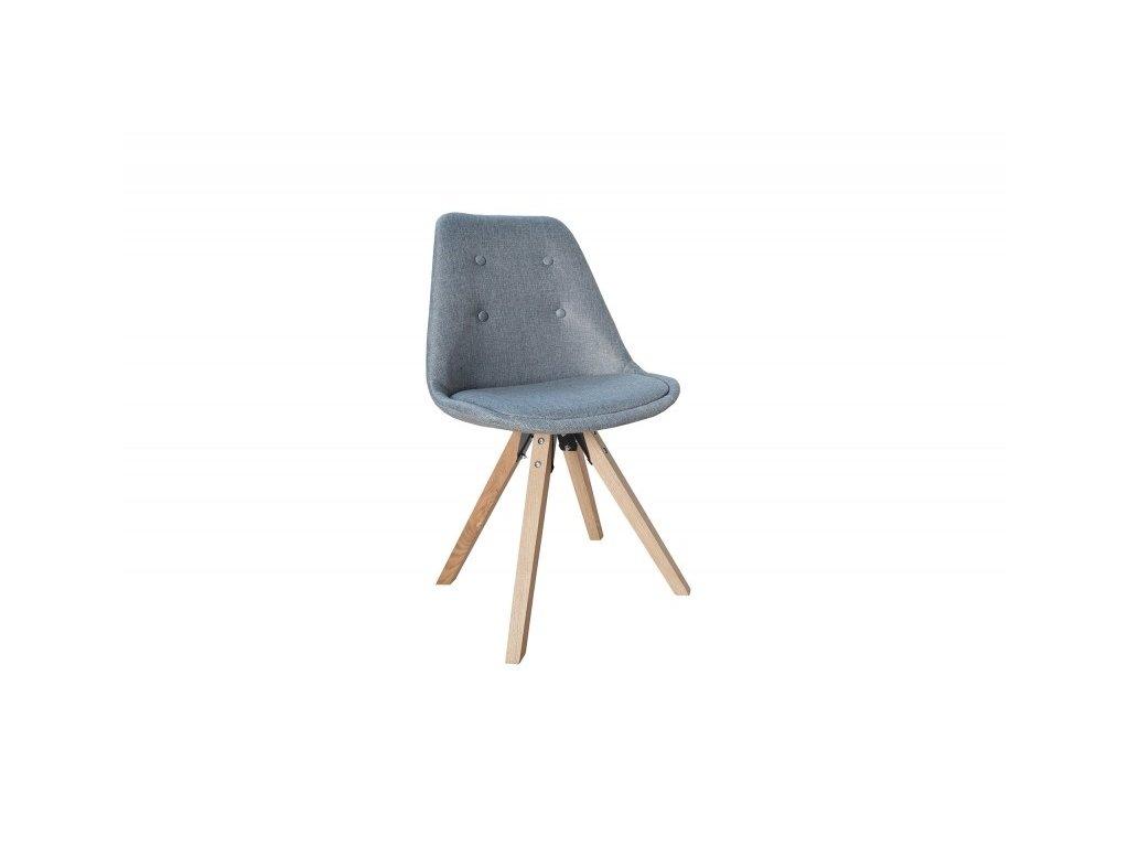Židle čalouněná prošívaná HUGO WOOD - šedá