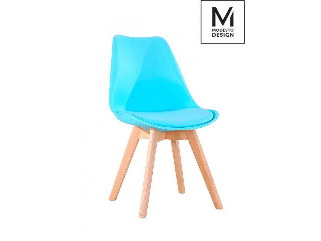 MODESTO židle NORDIC modrá - dubový základ