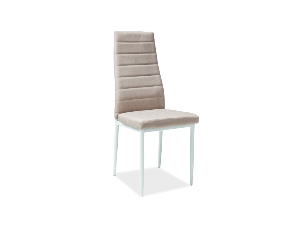 Židle H266 béžová kostra bílá