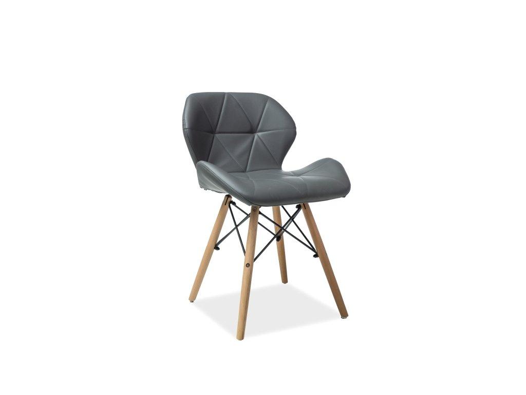 Židle MATIAS buk/šedá