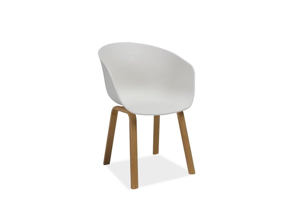 Židle EGO barva dub/bílá