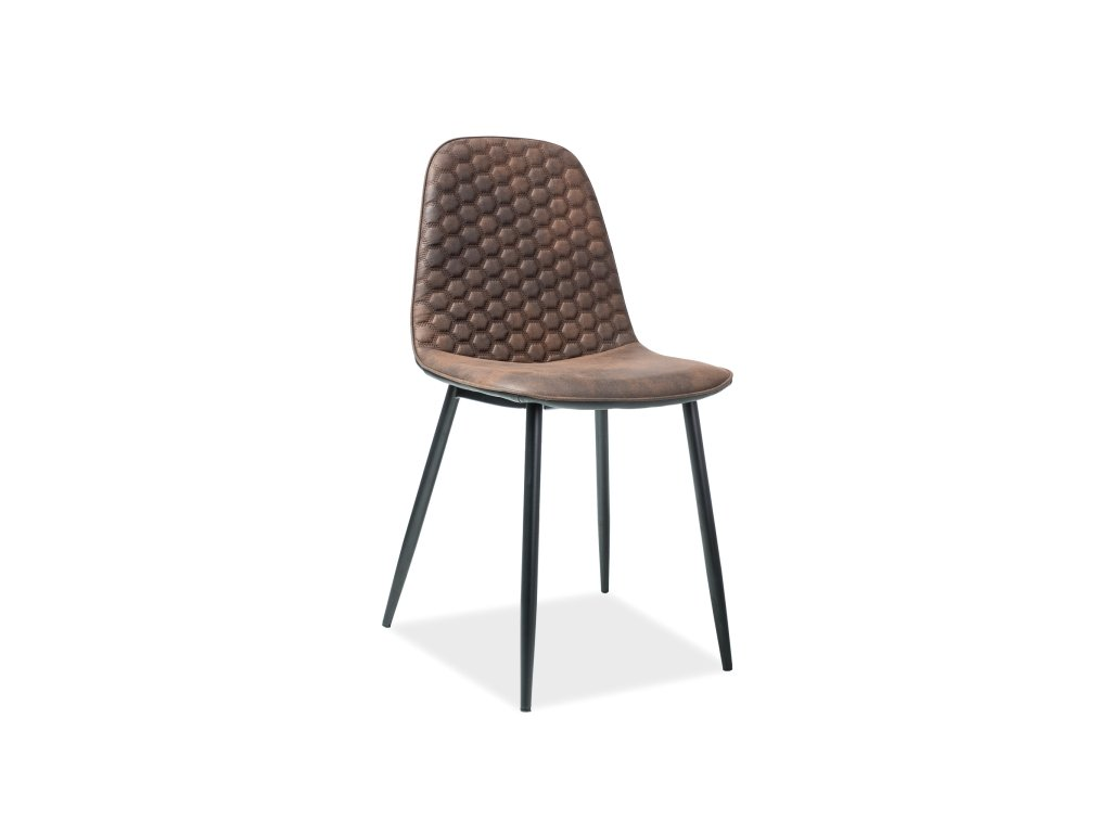 Židle TEO D hnědá/černá zadní část