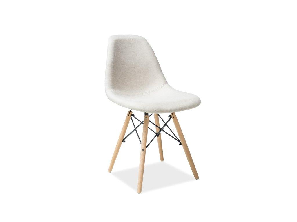 Židle COCO buk/béžová polstrování č.87