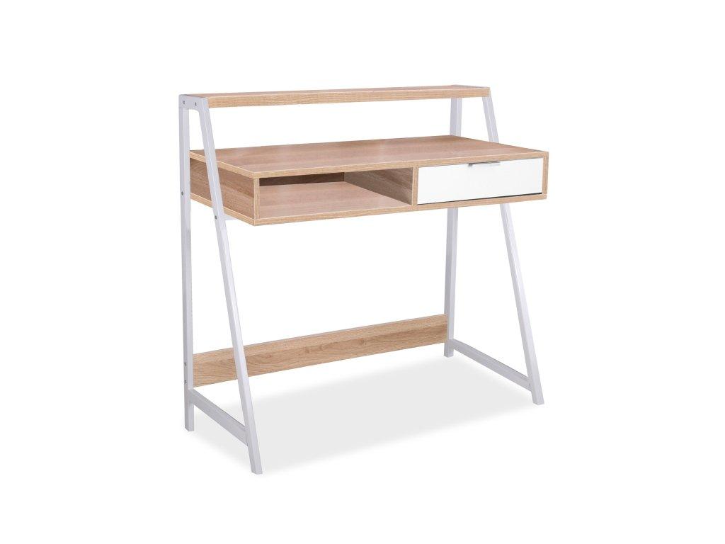 Psací stůl B-171 dub/bílý