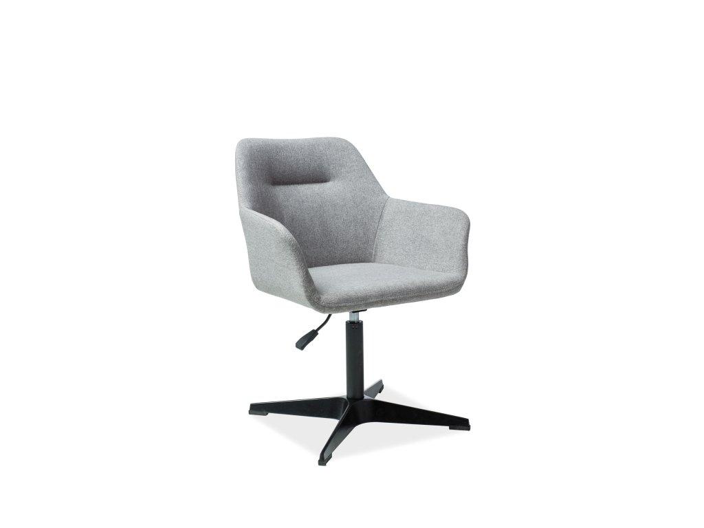 Židle KUBOS černá/šedá polstrování č.81