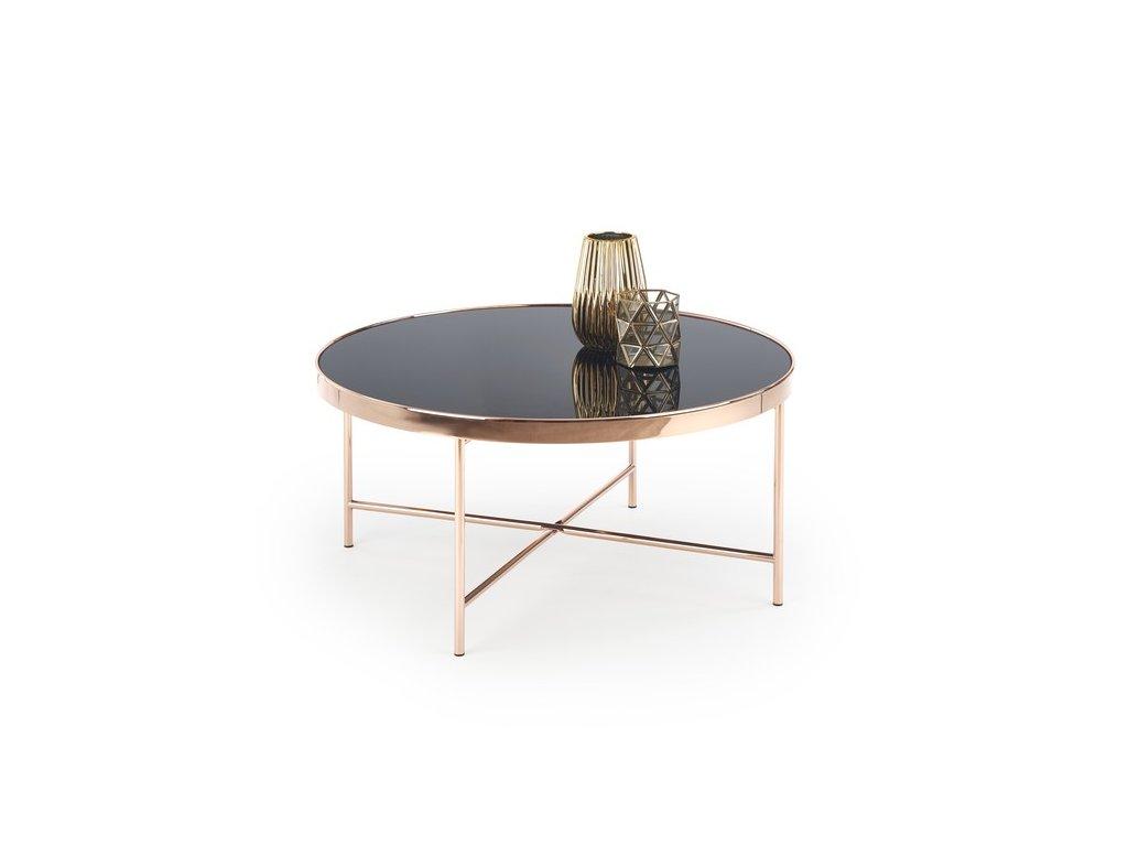 MORIA stolek měď / černý