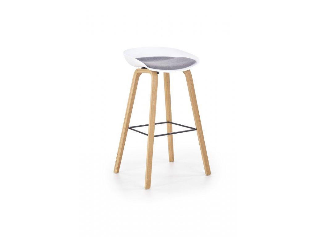 H86 barová židle bílo / šedá