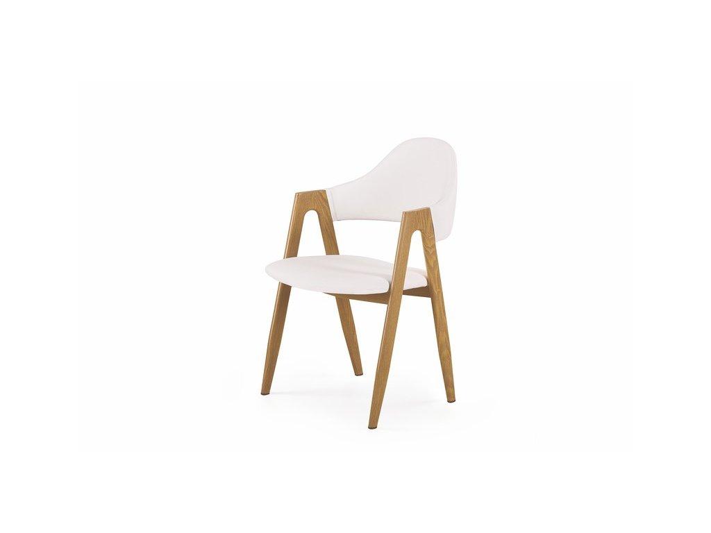 K247 židle bílá-dub velbloudí