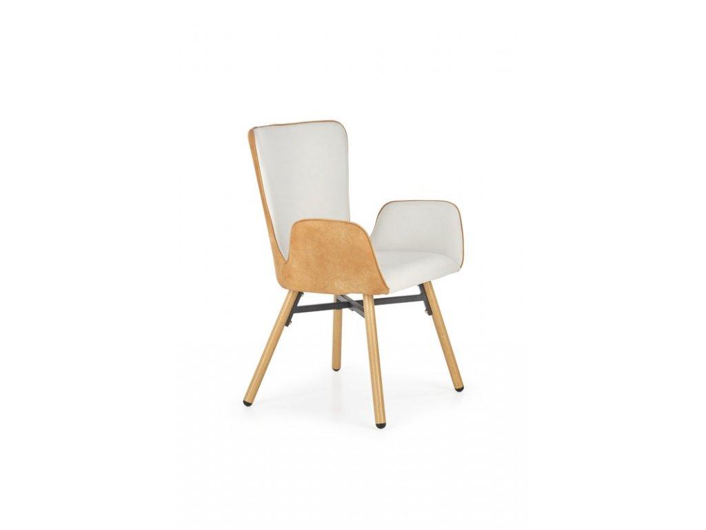 K286 židle světle šedá / světle hnědá
