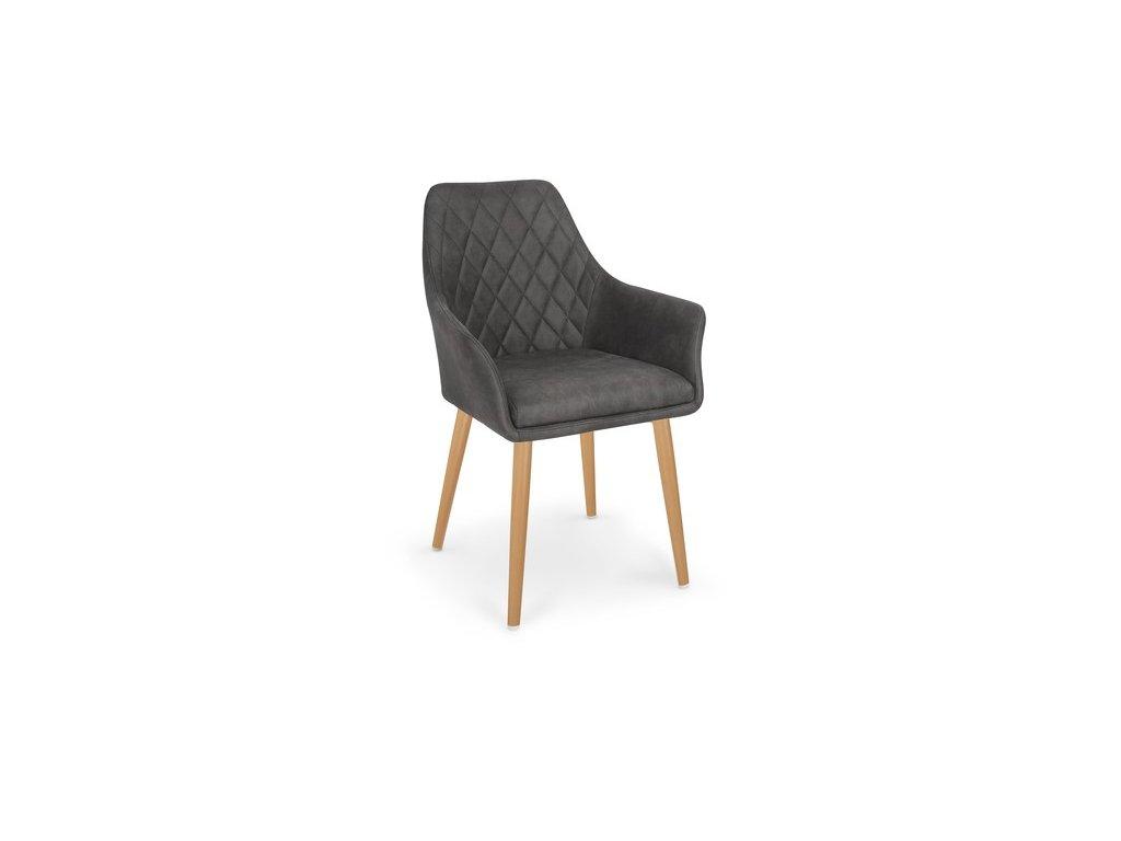 K287 židle tmavě hnědá