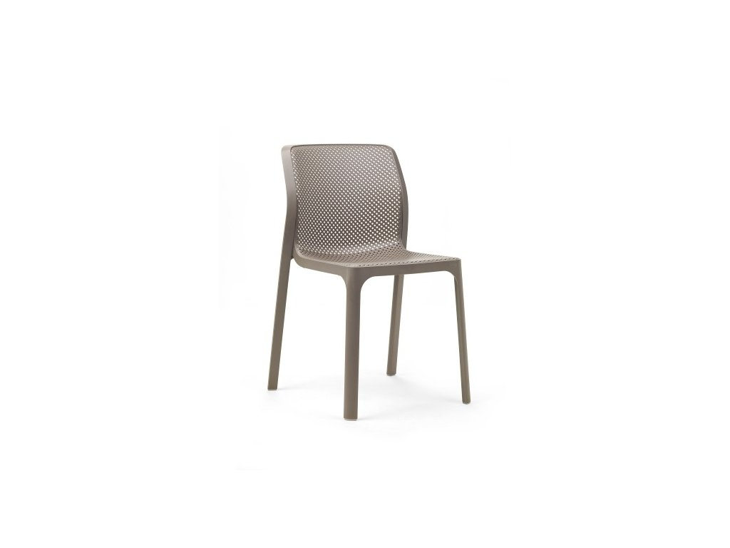 Židle NARDI BIT: tmavošedý polypropylén