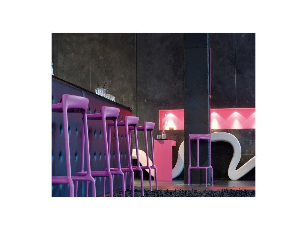 Barová židle Happy 490 v barvě cyklamen
