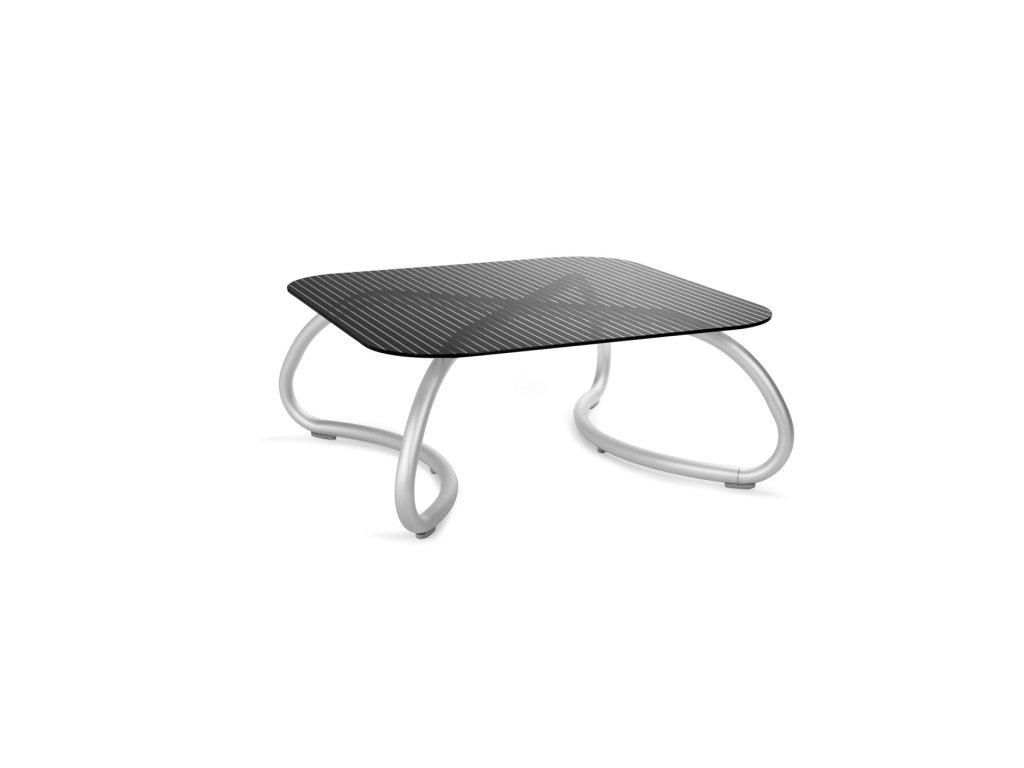 Skleněný stolek kulatý 95 Loto Relax antracitový
