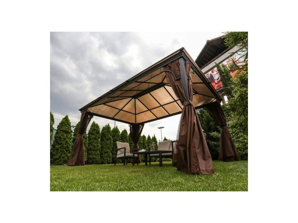 Kovový zahradní pavilon 4x3 m Oslo