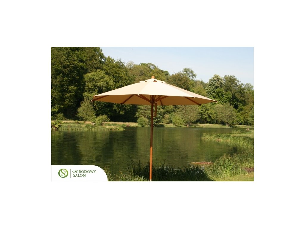 Zahradní deštník 3 m bambus
