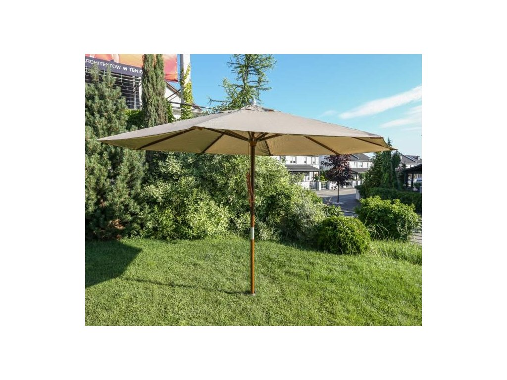 Zahradní deštník 3.5 m dřevěný