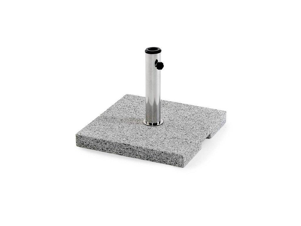 Hladká granitový základ pod deštník hranatý 40 kg