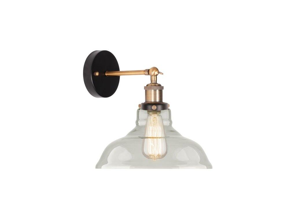 Lampa nástěnná NEW YORK LOFT 3 čirá