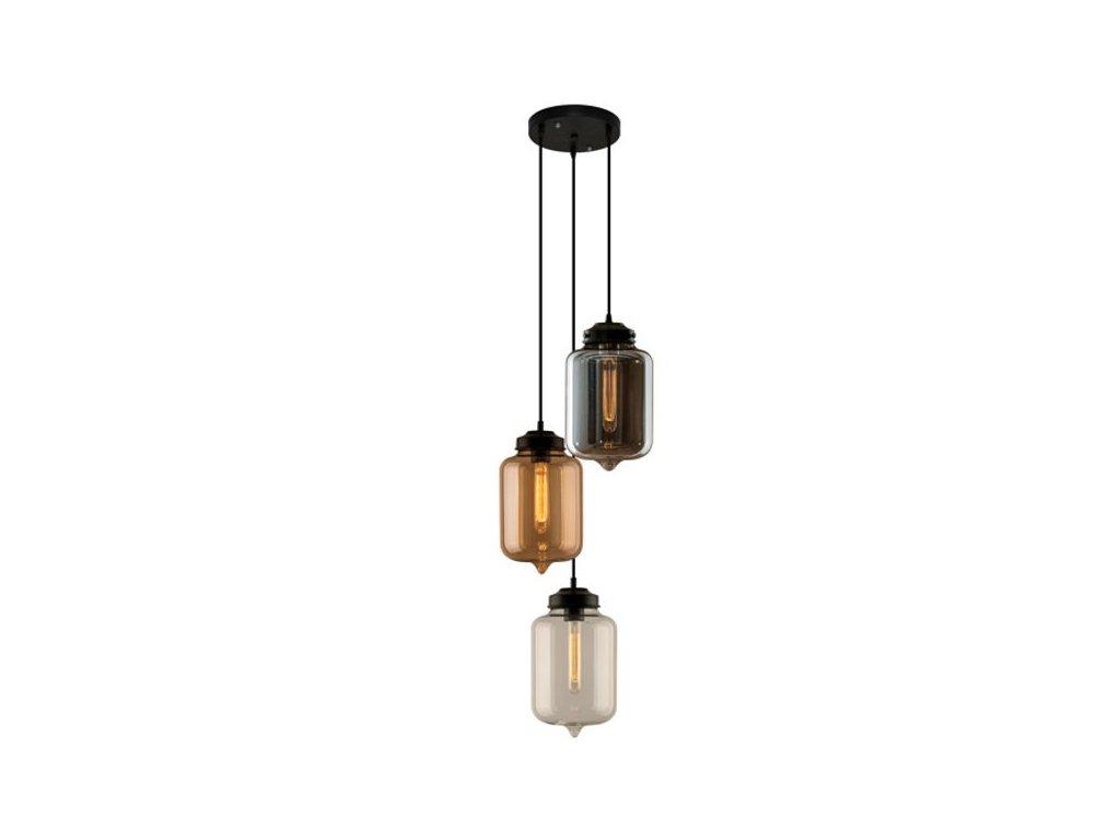 Lampa závěsná London Loft 2 CO mix